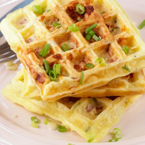 Easy Waffles – Best Homemade Omelette Waffle Recipe – {Easy} Egg Omelette Breakfast – Snacks – Lunch - Dinner – Quick – Simple