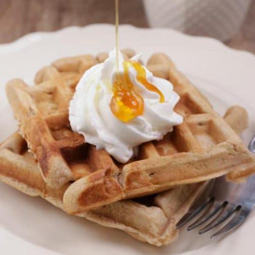 Easy Waffles – Best Homemade Cinnamon Apple Waffle Recipe – {Easy} Breakfast – Snacks – Desserts – Quick – Simple