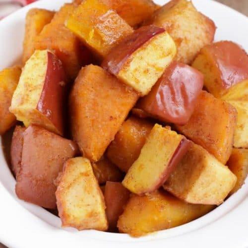 Apple Cinnamon Roasted Sweet Potatoes! Roasted Sweet Potato Recipe – Best – Appetizer – Side Dish – How To Make