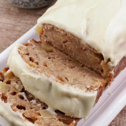 Easy Cinnamon Sugar Apple Bread – Best Homemade Apple Bread Recipe With Cream Cheese Frosting – {Easy} Recipes – Snacks – Desserts – Breakfast – Quick – Simple