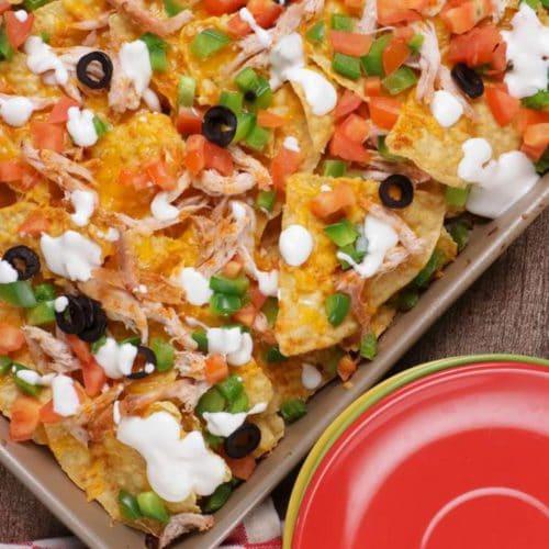 Leftover Turkey Nachos! Leftover Turkey Sheet Pan Nacho Easy Recipe – Best – Appetizers – Snacks – Side Dish – How To Make