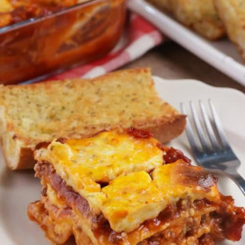 Easy Lasagna – Best Homemade Lasagna Recipe With Cheesy Garlic Bread – Dinner - Lunch – Quick – Simple