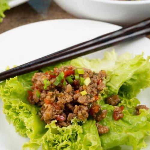 BEST Lettuce Wraps - Easy Copycat PF Changs Chicken Lettuce Wraps Recipe – Asian – Dinner - Lunch - Appetizers