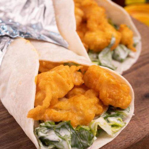 Easy 15 Minute Buffalo Shrimp Tacos - Best Shrimp Recipe – Dinner - Lunch