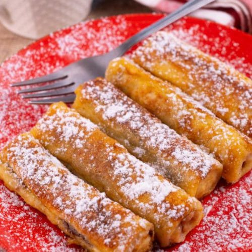 Easy French Toast – Best Homemade Peanut Butter & Jelly French Toast Roll Ups Recipe – {Easy} Breakfast – Dinner – Snacks – Desserts – Quick – Simple