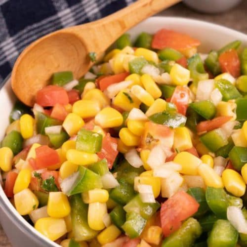Easy Salad – Best Homemade Cajun Corn Salad Recipe – {Easy} Lunch – Dinner – Snacks – Side Dishes – Quick – Simple