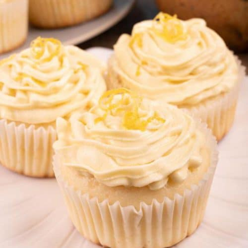 Easy Cupcakes - Best Frosted Lemon Cupcake Recipe - Desserts – Snacks - Kids Party Food