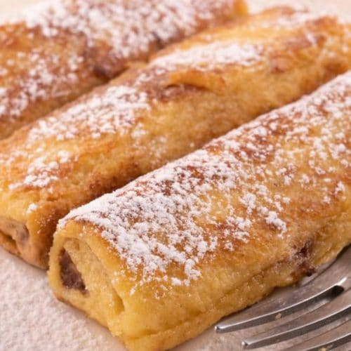 Best French Toast – Homemade Peanut Butter Chocolate French Toast Roll Ups Recipe – {Easy} Breakfast – Snacks – Party Food – Quick – Simple