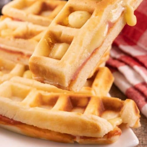 Easy Pizza – Best Homemade Stuffed Pizza Waffle Sticks Recipe – Snacks – Lunch – Dinner – Party Food - Quick – Simple