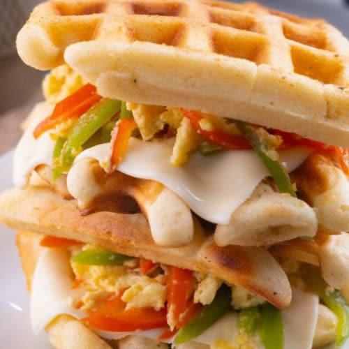 Easy Waffles – Best Homemade Stuffed Breakfast Waffles Recipe – {Easy} Breakfast – Lunch - Dinner – Kids Party Food
