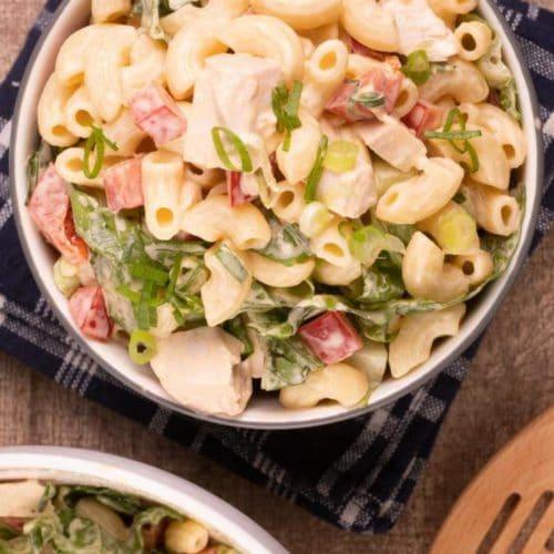 Easy Pasta Salad – Best Homemade Buffalo Chicken Pasta Salad Recipe – {Easy} Lunch – Dinner – Snacks – Side Dishes