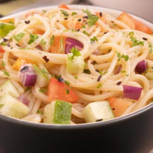 Easy Pasta Salad – Best Homemade California Spaghetti Salad Recipe – {Easy} Lunch – Dinner – Snacks – Side Dishes