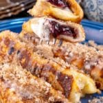 15 Minute French Toast – Best Homemade Blueberry Muffin French Toast Roll Ups Recipe – {Easy} Breakfast – Snacks – Desserts – Party Food – Quick – Simple