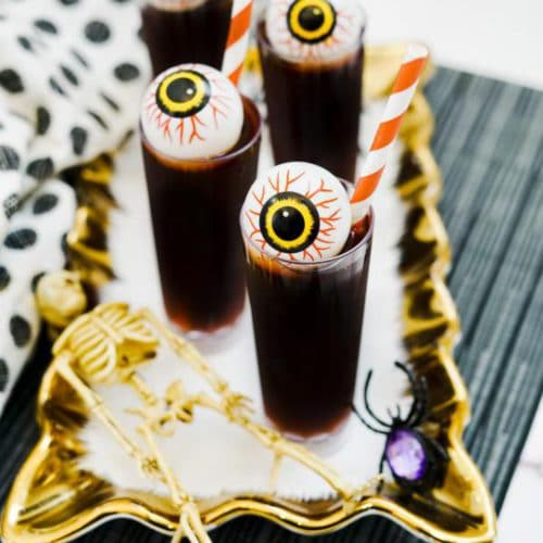 Alcoholic Drinks – BEST Creepy Monster Eye Shots Recipe – Easy and Simple Halloween Shots